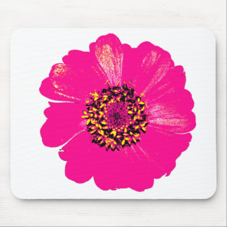 Pink Zinnia Flower Mouse Pad