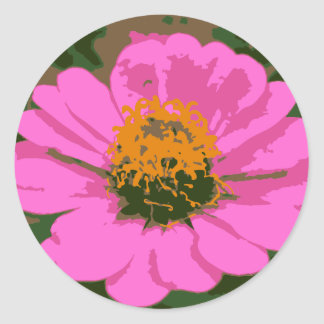 Pink Zinnia Flower Sticker