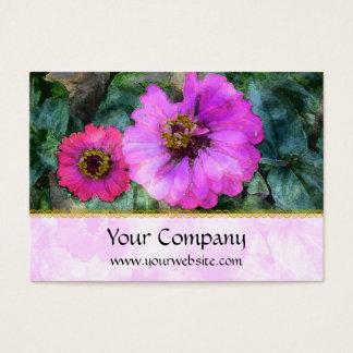 Pink Zinnia Harmonies Business Card