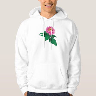Pink Zinnia Looking Up Mens Pullover