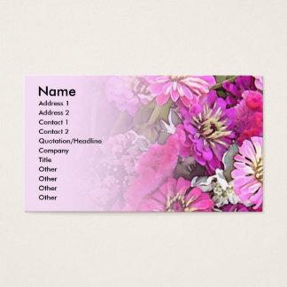 Pink Zinnia Profile Card
