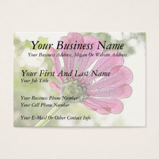 Pink Zinnia reaching for the sky Business Card