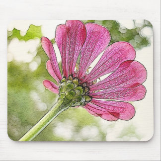Pink Zinnia reaching for the sky Mouse Pad