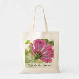 Pink Zinnia reaching for the sky Tote Bag
