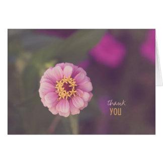 Pink Zinnia Thank You Card
