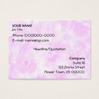 Pink Zinnias Harmony Business Card