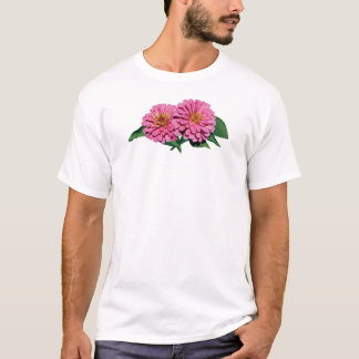 Pink Zinnias Mens T-Shirt