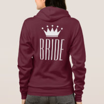 Pink zip up hoodie for bride to be