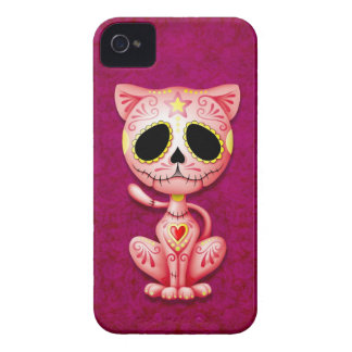 Pink Zombie Sugar Kitten iPhone 4 Cases