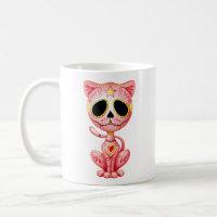 Pink Zombie Sugar Kitten Coffee Mug