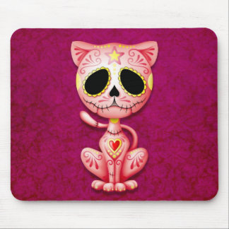 Pink Zombie Sugar Kitten Mouse Pad