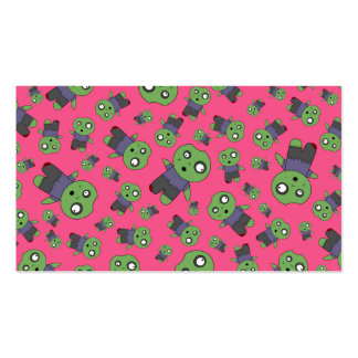 Pink zombies business card