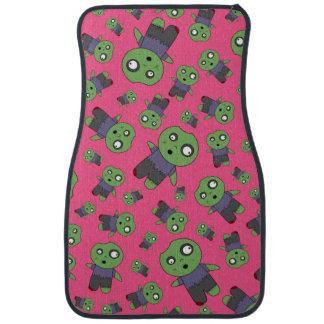 Pink zombies car floor mat