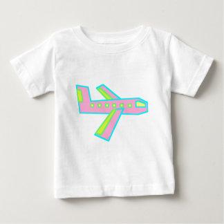 Pink Zooper Plane Baby T-Shirt