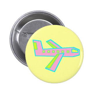 Pink Zooper Plane Button