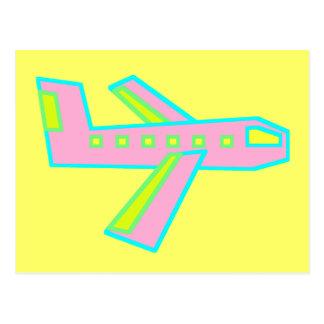 Pink Zooper Plane Postcard