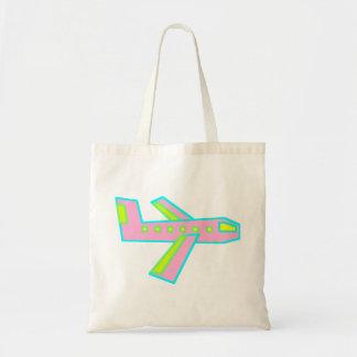 Pink Zooper Plane Tote Bag