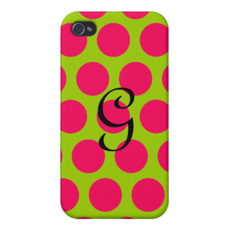 Pinkalicious Dots Cases For iPhone 4