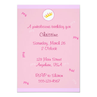 Pinkalicious invitation