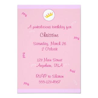 "Pinkalicious invitation 5"" x 7"" invitation card"