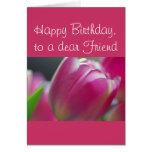 Pinkalicious, tulipanes, plantilla de la tarjeta d