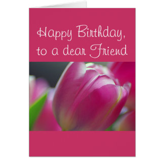 Pinkalicious, Tulips, Birthday Prose Card Template