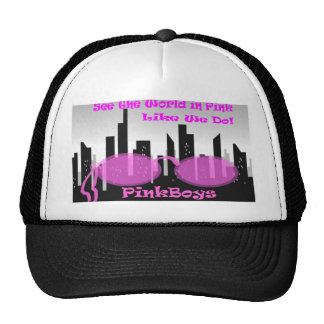PinkBoys Black Cap Trucker Hats