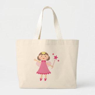 PinkFairies13 Large Tote Bag