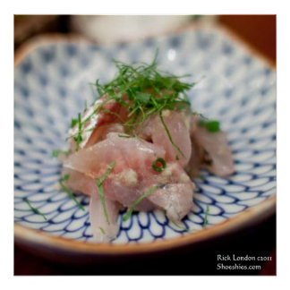 Pinkfish Sushi Dish Photography Posters Poster
