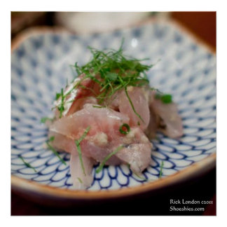 Pinkfish Sushi Dish Photography Posters Posters