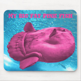 PinkFishy, My Big Fat Pink Fish Mouse Pad