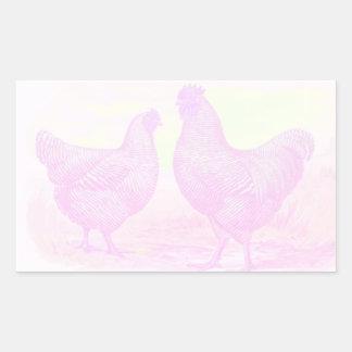 PinkFoam Rectangular Sticker