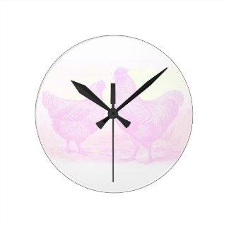 PinkFoam Round Clock