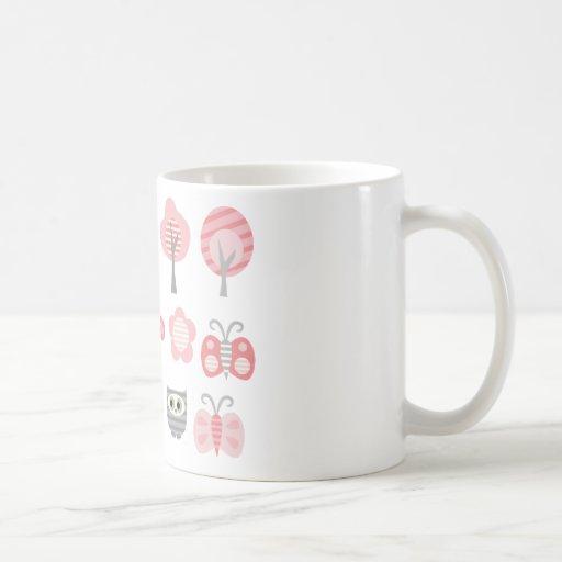 PinkGrayCritter1 Tazas De Café