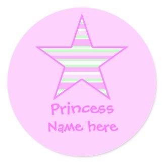 pinkgreencccstar2, Princess, Name here sticker