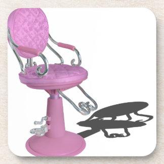 PinkHairDresserChair070315.png Beverage Coaster