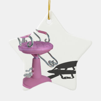 PinkHairDresserChair070315.png Ceramic Ornament