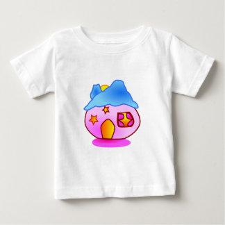 pinkhome_Vector GIRLY CUTE PINK CARTOON HOME STARS Baby T-Shirt