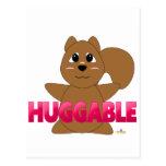 PinkHuggableHuggableSquirrel Tarjeta Postal