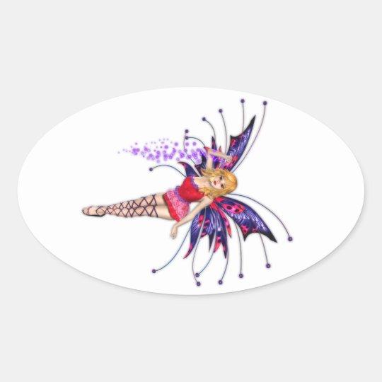 Pinkie Fae Oval Sticker