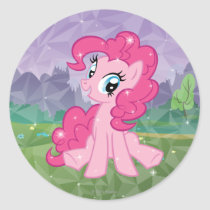 Pinkie Pie Classic Round Sticker