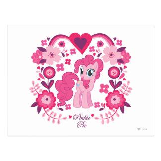 Pinkie Pie Floral Design Postcard