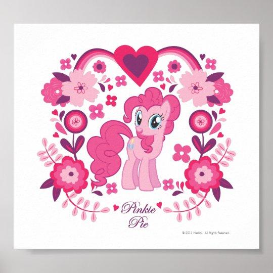 Pinkie Pie Floral Design Poster