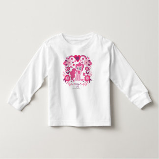 Pinkie Pie Floral Design Toddler T-shirt
