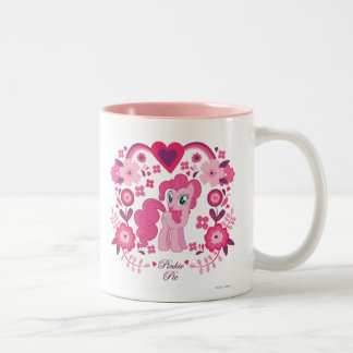 Pinkie Pie Floral Design Two-Tone Coffee Mug