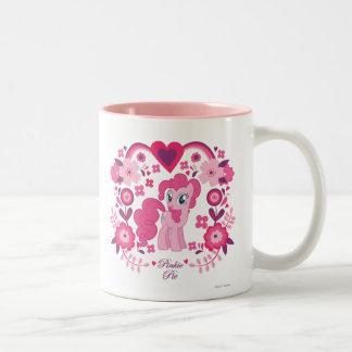 Pinkie Pie Floral Design Two-Tone Coffee Mug