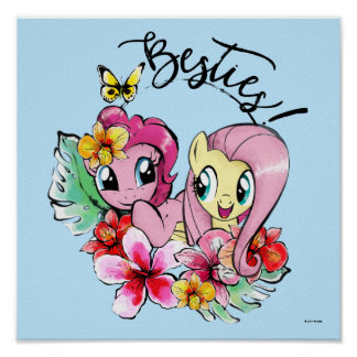 Pinkie Pie & Fluttershy | Besties Poster