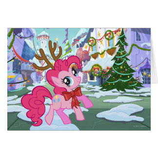 Pinkie Pie Reindeer Card