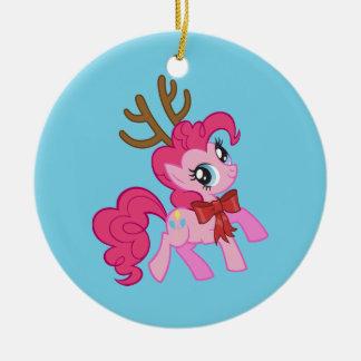 Pinkie Pie Reindeer Ceramic Ornament