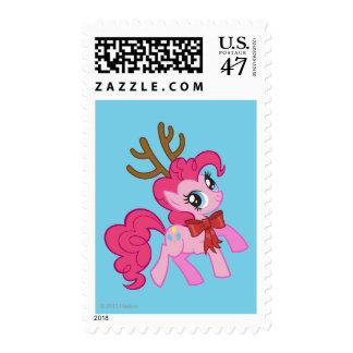 Pinkie Pie Reindeer Postage Stamp